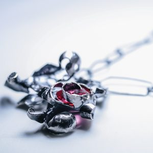 Guitar Distortion Necklace Ruby