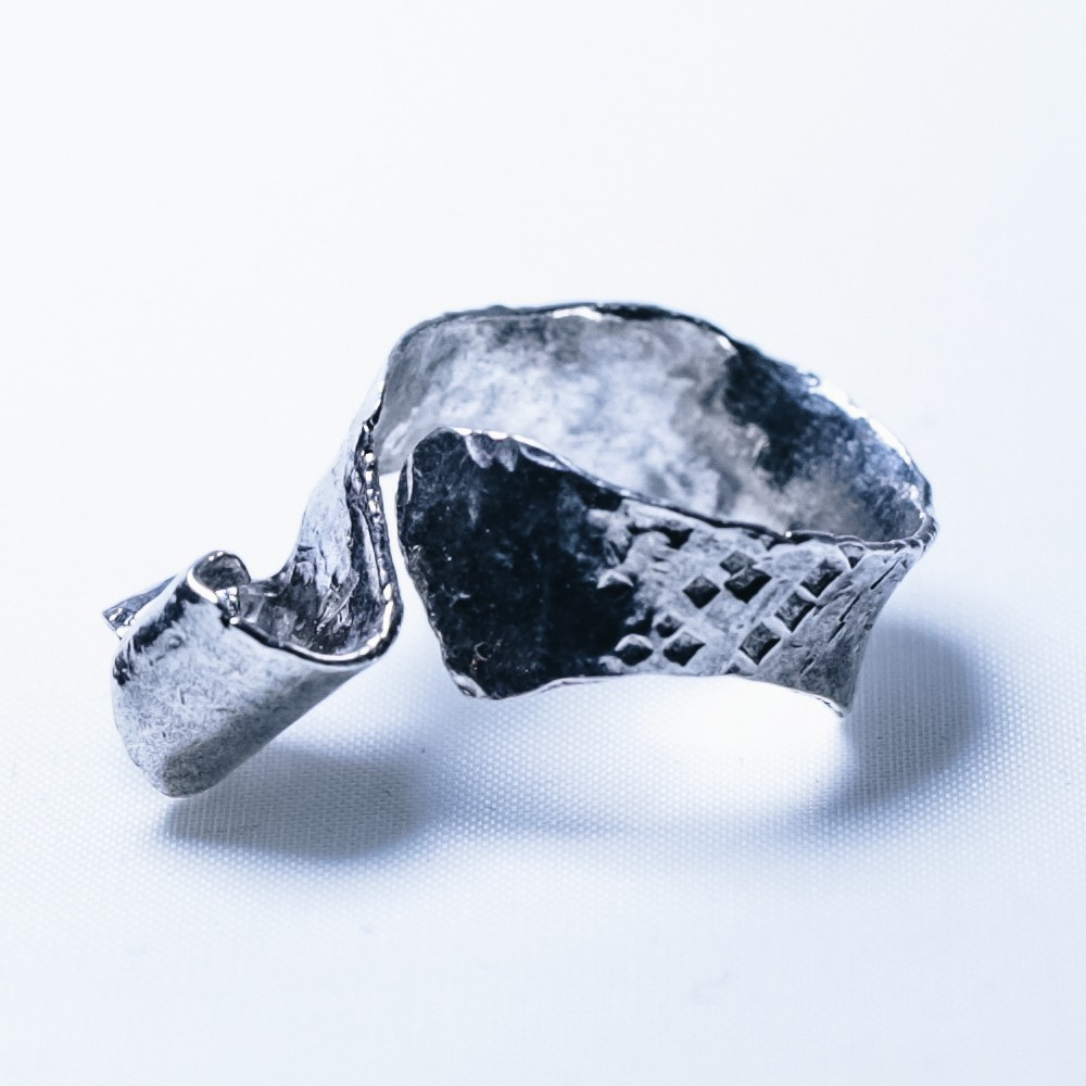 Silver Oak Leaf Ring #6