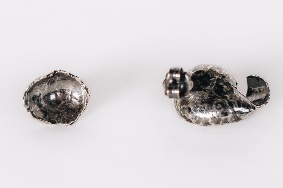 A-Symmetric Blacksilver Earrings