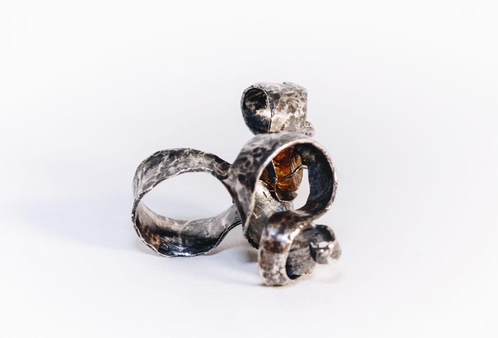 Golden Topaz Cocktail Ring