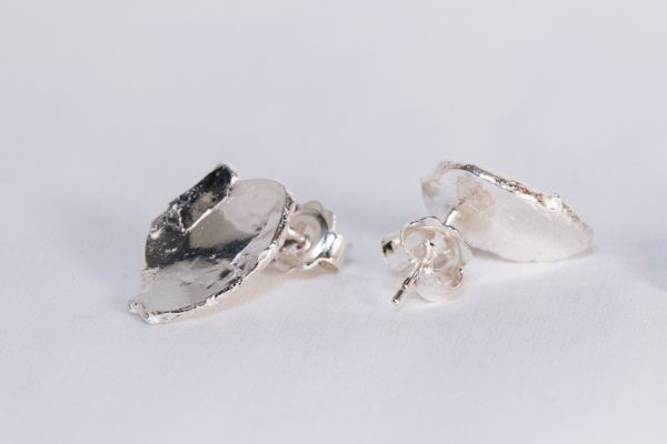 Shiny Stud Earrings Silver