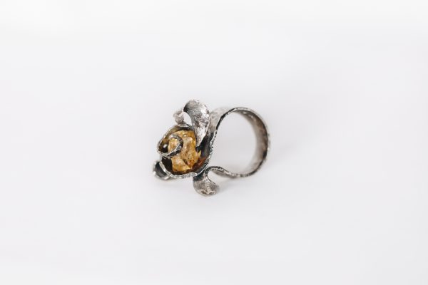 Golden Topaz Silver Ring