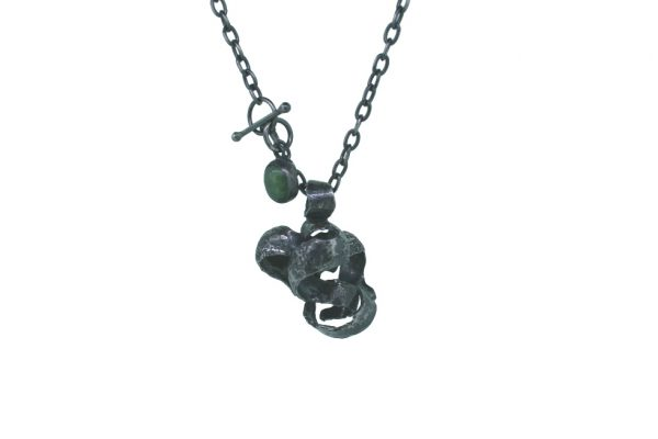 t-bar silver necklace product image