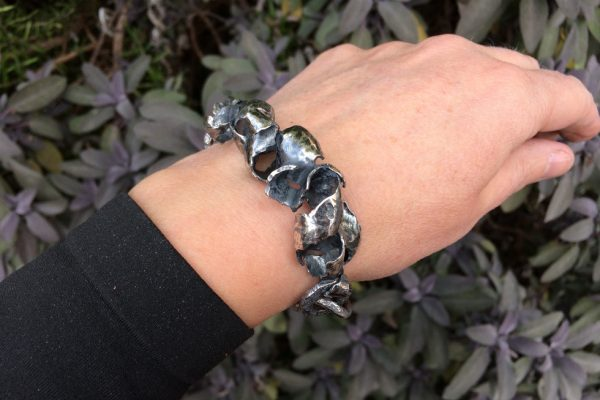 Silver Curb Chain Bracelet model image