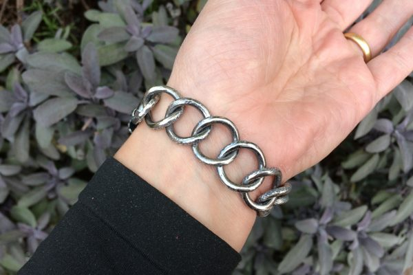 Silver Curb Chain Bracelet model image