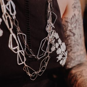 Long Silver Chain Necklace