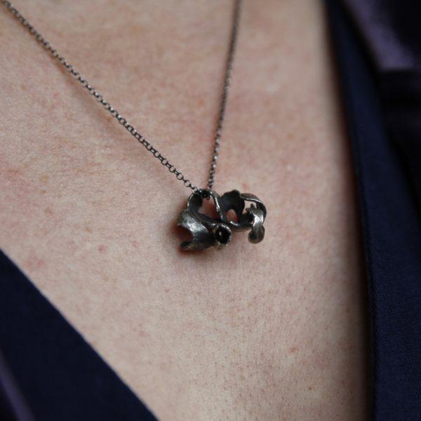 Hidden Garnet Pendant Necklace